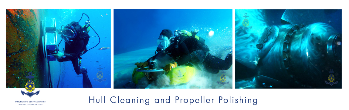Underwater Hull Cleaning and Propeller Polishing